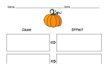 Pumpkin Cause and Effect Graphic Organizer