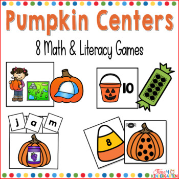 fall pumpkin math and literacy centers