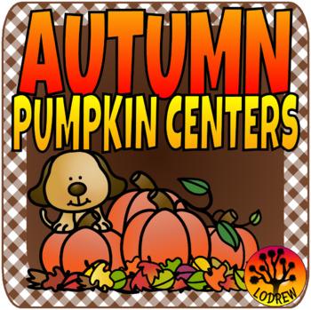 Pumpkin Centers Autumn Fall Literacy Math Shapes Counting