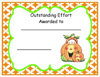 Pumpkin Certificates