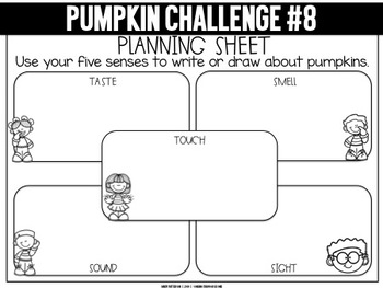 Pumpkin Challenges | For Use with Seesaw