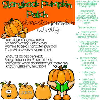 Pumpkin Character Book Project