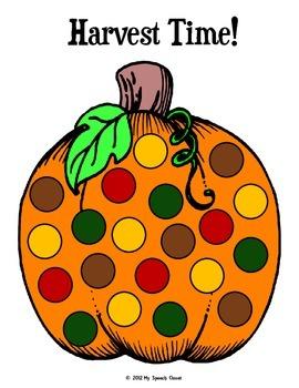 Pumpkin Dot Game Boards