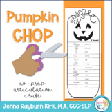 Pumpkin Chop: No-Prep Articulation Craft