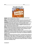 Pumpkin Chucking or Punkin Chuckin - Fun review article questions activities