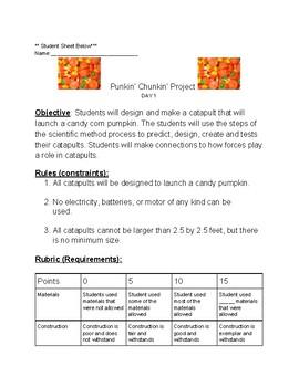 Pumpkin Chunkin STEM project