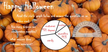 Pumpkin Circle Graphs notebook