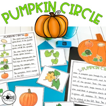 Pumpkin Circle-Informational Read Aloud, Lesson Plans and