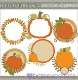 Pumpkin Circles Thanksgiving Clip Art
