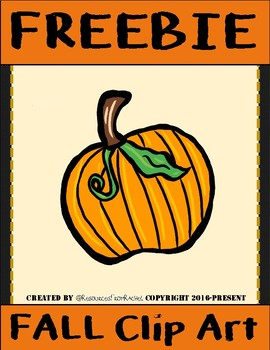 Pumpkin Clip Art FREEBIE