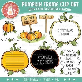 Pumpkin Clip Art – Frames & Decorations