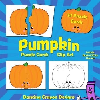 Pumpkin Clipart: Pumpkin Puzzle Cards