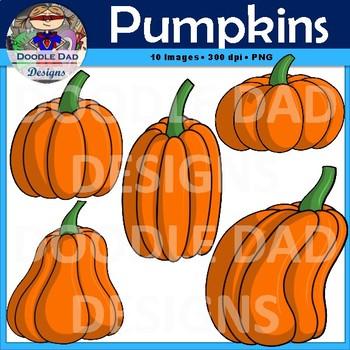 Pumpkin Clip Art (Jack-O-Lanterns, Fall, Halloween)