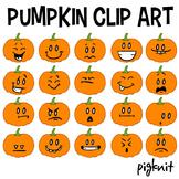 Pumpkin Clip Art, Pumpkin Face Emoticons, Halloween Clipar