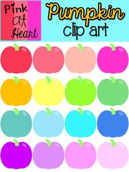 Pumpkin Clip Art - set of 16