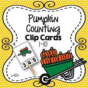 Pumpkin Clip Cards 1-10