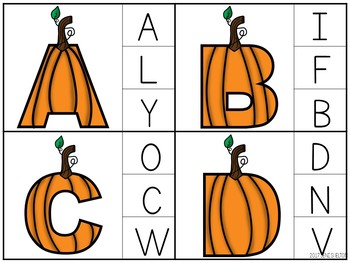 Pumpkin Clip Cards -- Alphabet, Counting, Shapes, and Colors