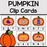 Pumpkin Clip Cards for Beginning Sounds
