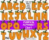Pumpkin ClipArt - Cute Pumpkin Alphabet Clip Art - Pumpkin