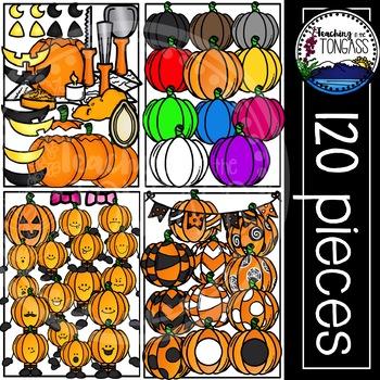 Pumpkin Clipart MEGA Set (Halloween Clipart) | Build a Pumpkin Clipart