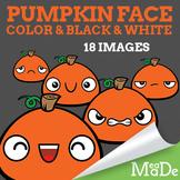 Pumpkin Halloween Clipart - Facial Expressions & Emotions