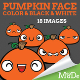 Pumpkin Halloween Clipart - Facial Expressions & Emotions