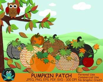 Pumpkin Patch {Upzaz Digital Clipart}
