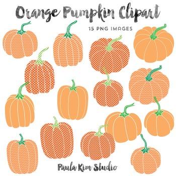 Pumpkin Clip Art, Orange Patterns