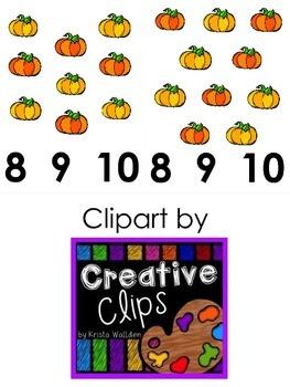 Pumpkin Clothespin Math Station