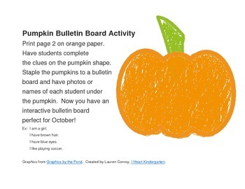 Pumpkin Clues Bulletin Board Activity