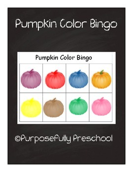 Pumpkin Color Bingo