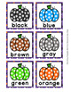 Pumpkin Color Match Clip Cards and Memory Game