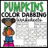 Pumpkin Color Dabbing Worksheets