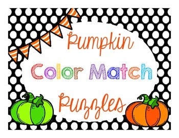 Pumpkin Color Match Puzzles