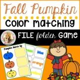 Pumpkin Color Match Up File Folder Game