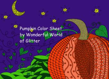 Pumpkin Color Sheet