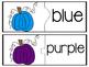 Pumpkin Color Words Matching