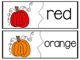 Pumpkin Color Words Matching
