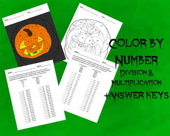 Pumpkin Color by Number- Division & Multiplication