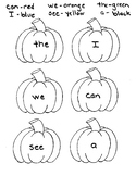 Pumpkin Color by Sight Word II