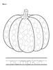 Pumpkin Coloring Activity