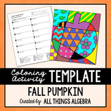 Coloring Activity Template: Pumpkin (Personal Use Only)