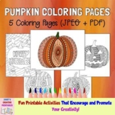 Pumpkin Coloring Pages - Set of 5
