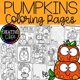 Pumpkin Coloring Pages (+ writing papers) {Fall Coloring Pages}