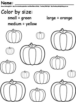 Pumpkin Coloring by Size