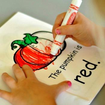 Pumpkin Colors Booklet - FREE Printable!