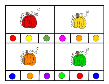 Pumpkin Colors Clip Cards