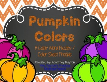 Pumpkin Colors Freebie