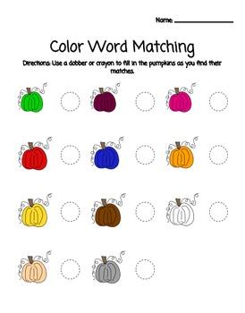 Pumpkin Colors Pack
