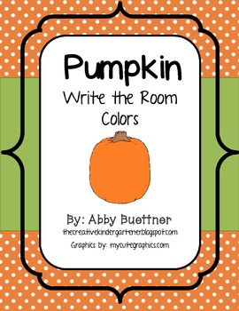 Pumpkin Colors Write the Room